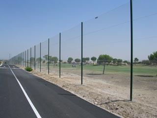mallas metalicas proteccion golf